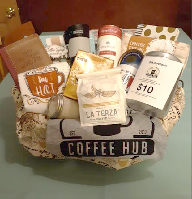 Coffee Raffle Basket